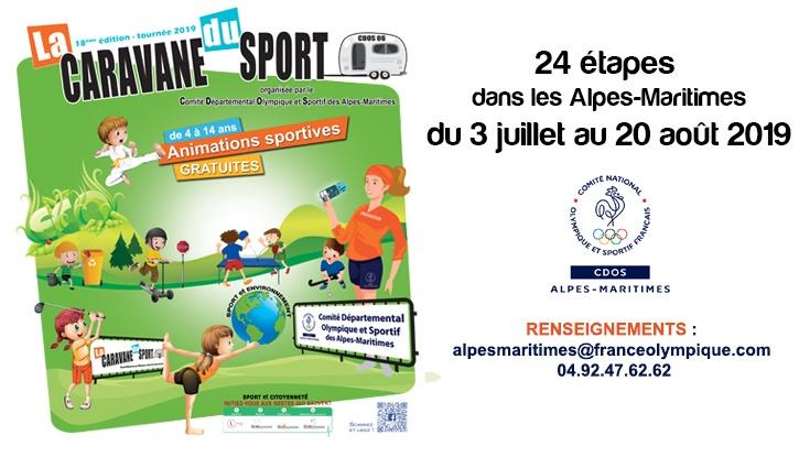 caravane sports alpes maritimes sports loisirs enfants agenda