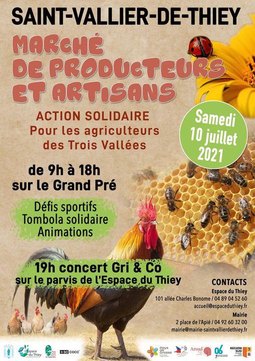 saint vallier marche producteurs artisans grasse agenda
